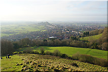 ST5038 : The western end of Glastonbury Tor by Bill Boaden