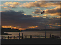 SD4578 : Dusk, Arnside Pier, New Years Day 2017 (2) by Karl and Ali