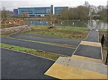 SK5702 : New path and steps at Freemans Meadow by Mat Fascione