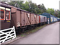 SX7466 : Freight wagons at Buckfastleigh  by Stephen Craven