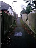 SZ0795 : Northbourne: uphill on footpath E42 by Chris Downer