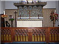 TQ2250 : St Mary, Buckland: altar by Basher Eyre