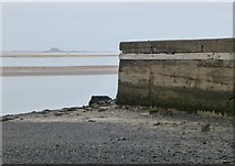 NU1535 : The old pier near Budle Point by Russel Wills