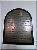 TQ2255 : St Peter, Walton-on-the Hill: memorial (g) by Basher Eyre