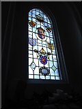 TQ2255 : St Peter, Walton-on-the Hill: stained glass window (I) by Basher Eyre