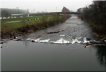 SO5012 : White water on the Monnow, Monmouth by Jaggery