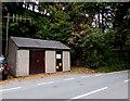 SH7401 : Welsh Water building near Pont ar Ddyfi, Gwynedd by Jaggery