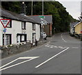 SH7401 : Unusual English-only Give Way sign at a junction in Gwynedd, North Wales by Jaggery