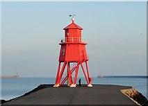 NZ3668 : Lighthouse on the South Groyne by Robert Graham