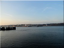 NZ3668 : Looking across the river to North Shields by Robert Graham