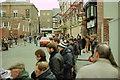 SJ4066 : Rally fans in St John Street, Chester by Jeff Buck