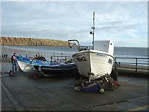 TA1280 : Fishing boats, Coble Landing, Filey by JThomas