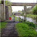 SS7799 : Kissing gate beyond the western end of Canal Side, Aberdulais by Jaggery