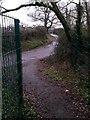 SZ1294 : Holdenhurst: footpath K49 reaches Riverside Avenue by Chris Downer