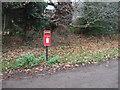 SJ5063 : Elizabeth II postbox, Burton by JThomas
