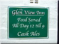 SD9026 : Sign on the Glen View Inn, Cornholme, Todmorden by JThomas