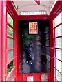 SO5718 : Inside a former phonebox south of Goodrich by Jaggery