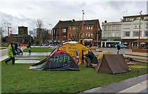 SK5804 : Tents at Leicester's Jubilee Square by Mat Fascione