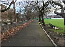 NT2273 : Path in Roseburn Park by John Allan
