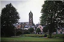 NT2540 : Peebles: Tweed Bridge and Church by Klaus Liphard
