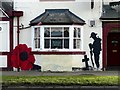 SK6799 : Remembrance artwork on the Station Hotel by Graham Hogg