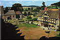 SO4381 : The Courtyard of Stokesay Castle by Jeff Buck