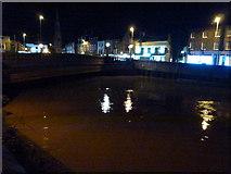 TF4509 : Surge tide on The River Nene in Wisbech - Alongside North Brink by Richard Humphrey
