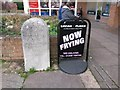 SY6680 : Weymouth: boundary stone in Southill parade by Chris Downer