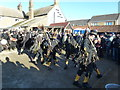TL2696 : Witchmen Border Morris dancers at The Boat - Whittlesea Straw Bear Festival 2017 by Richard Humphrey