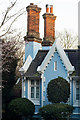 TQ2888 : Chimneys and gable in the Gothick style, Highgate by Julian Osley