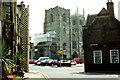 TF6119 : King's Lynn Minster from Queen Street by Jeff Buck