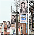 J3474 : Rabbie Burns posters, Belfast (January 2017) by Albert Bridge