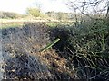 SK4037 : Culvert under a footpath and farm access by Ian Calderwood