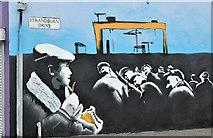 J3674 : Mural, Strandburn Drive, Belfast (January 2017) by Albert Bridge