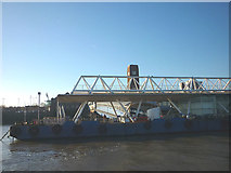 SJ3290 : The floating landing stage, Seacombe by Karl and Ali
