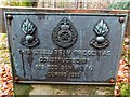 NH8449 : Plaque on footbridge over the Allt Dearg by valenta