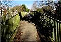 SN5200 : Across an A484 footbridge, Llanelli by Jaggery