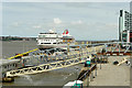 SJ3390 : Cruise Liner at Liverpool by David Dixon