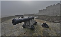 TR3752 : Deal Castle: Seaward facing bastion with 1800 cannons by Michael Garlick