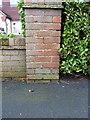 SJ4811 : OS benchmark - Meole Brace, 55 Grange Road by Richard Law