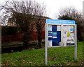 SO8014 : Quedgeley Parish Council noticeboard by Jaggery