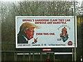 SU1384 : Advertising hoarding, Wootton Bassett Road, Swindon by Brian Robert Marshall