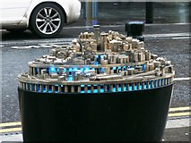 NZ2463 : Representative model of the city outside Central Station, Newcastle Upon Tyne by Ron Dixon