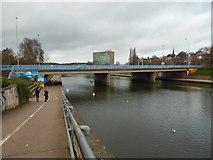 SX9192 : Approaching Exe Bridges, Exeter by Chris Allen