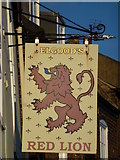 TF4509 : The Red Lion (Sign) - Public Houses, Inns and Taverns of Wisbech by Richard Humphrey