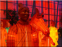 SJ8398 : Lanterns of the Terracotta Army (Close-up) by David Dixon