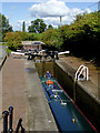 SJ5242 : Narrowboat in Grindley Brook Staircase Lock, Shropshire by Roger  Kidd