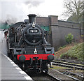 SK5416 : Quorn & Woodhouse Station - freight coming through by Chris Allen