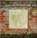 TG2909 : Plaque in the wall fronting Smee Farmhouse by Evelyn Simak