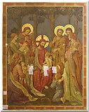 TQ2772 : Holy Trinity, Upper Tooting - Wall painting by John Salmon